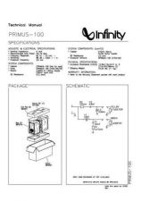 Buy INFINITY PRIMUS 100 TM Service Manual by download #147615