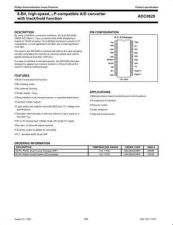 Buy SEMICONDUCTOR DATA ADC0820J Manual by download Mauritron #186991