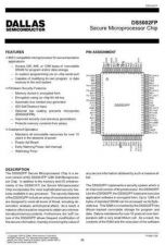 Buy INTEGRATED CIRCUIT DATA DS5002FPJ Manual by download Mauritron #186852