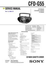Buy SONY CFD-G55 Manual by download #181418