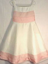 Buy Coral Ivory Tea Length Sweet Heart Rose Girls Pageant Brides Maid Dress Size 6