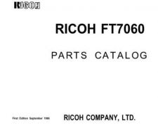 Buy RICOH FT7060 PARTS MANUAL by download #149777