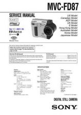 Buy Sony MVC-FD91 Service Manual by download Mauritron #194087
