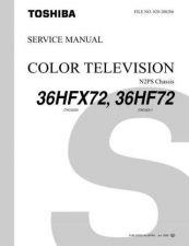 Buy TOSHIBA 36HFX72 36HF72 SVCMAN Service Schematics by download #159955