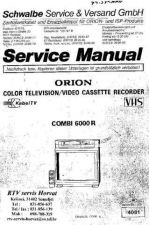 Buy ORION ORION COMBI 6000R Service Manual by download Mauritron #193519