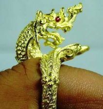 Buy Legendary Naga Serpent Nong Khai Thai Brass Ring Size FREE