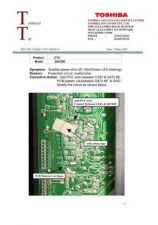 Buy TOSHIBA CTV-2001107 SERVICE BULLETIN by download #132162
