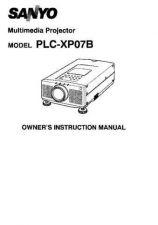 Buy Sanyo PLCXF10NL Manual by download #174860