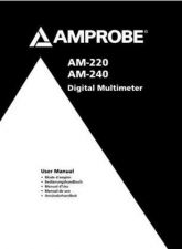 Buy Amprobe AM-250 User Instructions Operating Guide by download Mauritron #194251