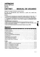 Buy Sanyo CM776ET EN Manual by download #173592
