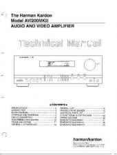 Buy Harman Kardon AVI200II SM Manual by download Mauritron #185582