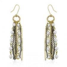 Buy Two-tone Pearl Dangle Earrings