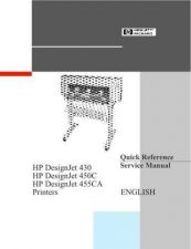 Buy HP DESIGNJET 430 QUICK REFERENCE SERVICE MANUAL by download #147522