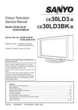 Buy Sanyo CE30LD3BK-B-00 SM Manual by download #173234