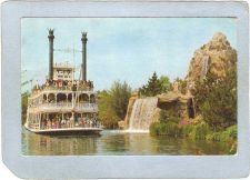 Buy CA Anaheim Amusement Park Postcard Disneyland Mark Twain Steamboat Passes ~229