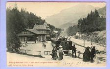 Buy GER Brunig Bahnhof View Down Slope Snow Covered Grounds w/Old Train Cars &~133