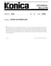 Buy Konica 02_START_UP_PARTS_LIST Service Schematics by download #135825