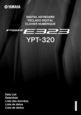 Buy Yamaha PSRE323_EN_DL_A0 Operating Guide by download Mauritron #204212