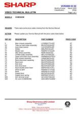 Buy Sharp VCMH60HM-001 Service Schematics by download #159037