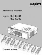 Buy Sanyo PLC-XU56 Manual by download #175055