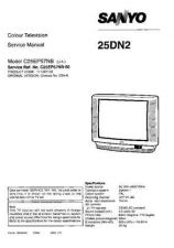 Buy Sanyo 25DN2 SM-Only Manual by download #172628
