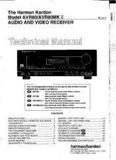 Buy Harman Kardon AVR80II SM Manual by download Mauritron #185611