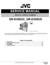 Buy JVC GR-D350US Service Schematics by download #155600