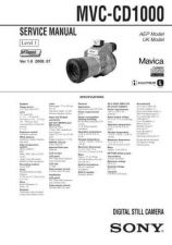 Buy SONY MVC-FD71-73 Service Manual by download Mauritron #194085