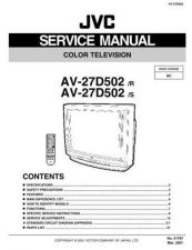 Buy JVC AV-27D50 Service Schematics by download #155336