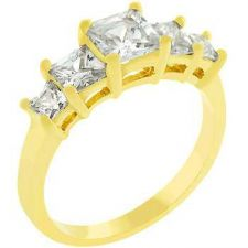 Buy 5 Stone Anniversary Ring In Gold (size: 05)