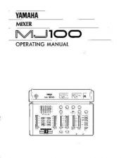 Buy Yamaha MJ100E Operating Guide by download Mauritron #204850
