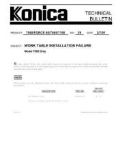 Buy Konica 39 WORK TABLE INSTALLATION Service Schematics by download #136155