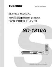 Buy TOSHIBA SD1810A SVCMAN ON by download #129622