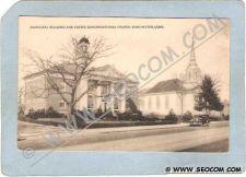 Buy CT Manchester Postcard Municipal Building & Center Congregational Church S~1108