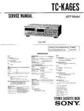 Buy SONY TC-KA6ES Service Manual by download #167220