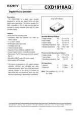 Buy MODEL CXD1910 Service Information by download #124054