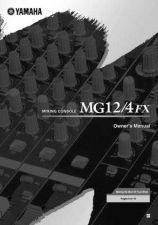 Buy Yamaha MG12 4FXE Operating Guide by download Mauritron #204832