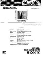 Buy SONY GDM-2039 Service Manual by download #166864
