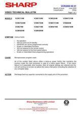 Buy Sharp VCMH722HM-007 Service Schematics by download #159199