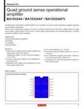 Buy INTEGRATED CIRCUIT DATA BA10324AJ Manual by download Mauritron #186560