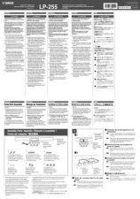 Buy Yamaha LP255_EN_DE_FR_ES_JA_AI_A0 Operating Guide by download Mauritron #203798