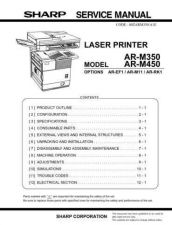 Buy SHARP AR-M350, 450 SERVICE MANUAL by download #153532