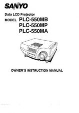 Buy Sanyo PLC-5500BA Operating Guide by download #169488