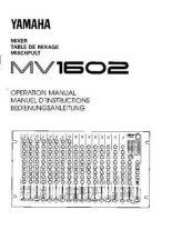 Buy Yamaha MV1602E Operating Guide by download Mauritron #204920