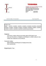 Buy TOSHIBA CTV-02A-200219 SERVICE BULLETIN by download #132141