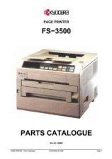Buy KYOCERA FS-3500 PARTS MANUAL by download #148431