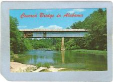 Buy AL Cleveland Covered Bridge Postcard Swan Bridge Over Locust Fork Of Black~3