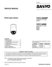 Buy Sanyo VCC-9300P Mechanical Manual by download #177376