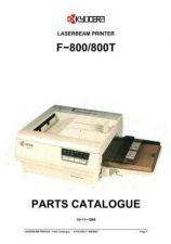 Buy KYOCERA F-800 PARTS MANUAL by download #152132