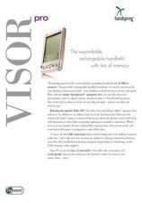 Buy PALM VISORPRO DATASHEET by download #127480
